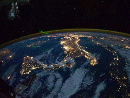 L'Italie vue depuis l'ISS